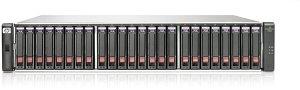 HP StorageWorks P2000 G3 MSA FC/iSCSi SFF, 4x Gb LAN/4x Fibre Channel 8Gb/s, 2U (AW568A)