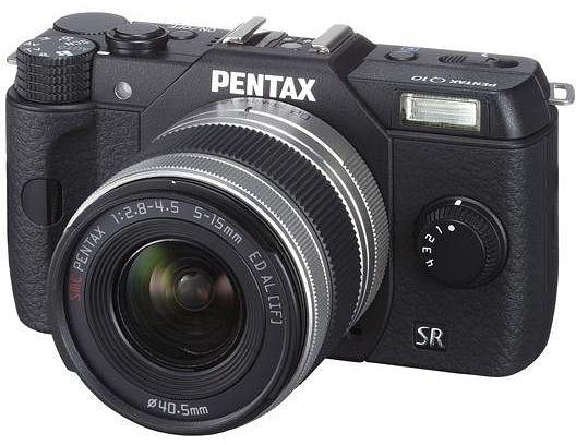 Pentax Q10 black with lens 5-15mm 2.8-4.5 (12126)