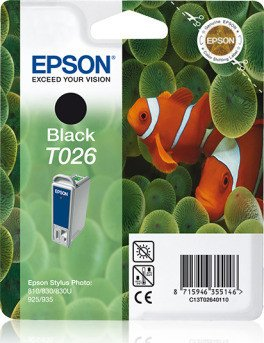 Epson T026 Tinte schwarz (C13T02640110)