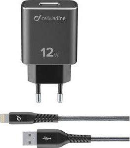 Cellularline Extreme Charger Kit 12W Lightning schwarz (TETRACHKITMFIPH2AK) -- via Amazon Partnerprogramm