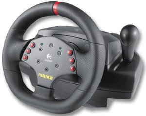 Logitech Momo Racing Force Feedback Wheel, USB (PC) (963282-0914)
