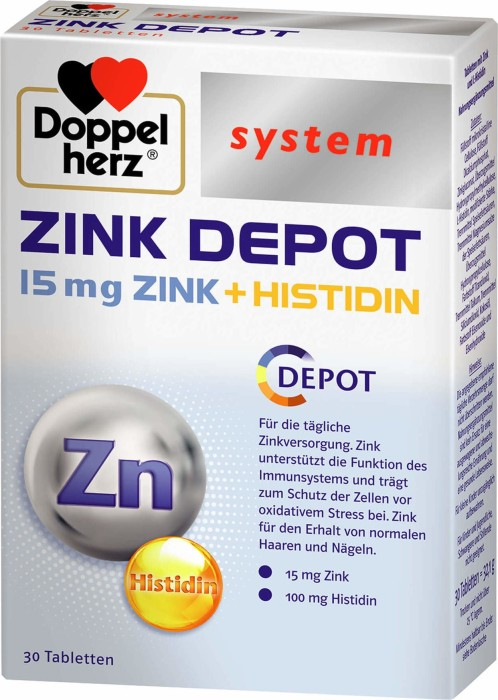 Doppelherz system zinc Depot tablets, 30 pieces