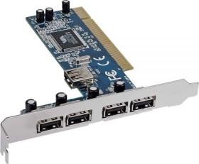 InLine Schnittstellenkarte 5x USB 2.0, PCI (66673V)