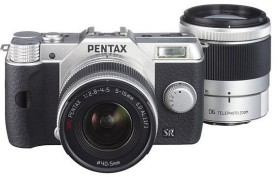 Pentax Q10 silber mit Objektiv 5-15mm 2.8-4.5 und 15-45mm 2.8 (12171)