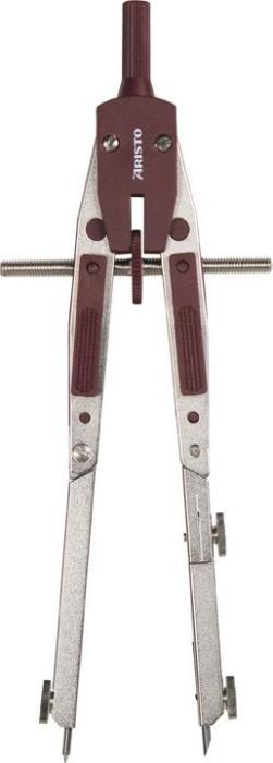 Aristo Profi Schnellverstellzirkel, 2 Gelenke, Universaladapter, silber/weinrot (AR55510)