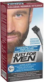 Combe Just for Men beard and moustache Brush-In gel hair colour medium brown, 28.4ml