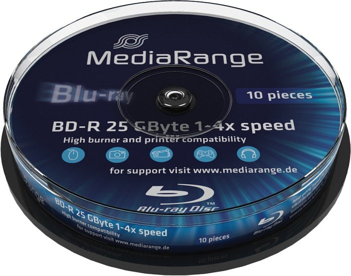 MediaRange BD-R 25GB 4x, 10er Spindel (MR495)