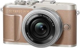 Olympus PEN E-PL10 braun mit Objektiv M.Zuiko digital 14-42mm EZ (V205101NE000)