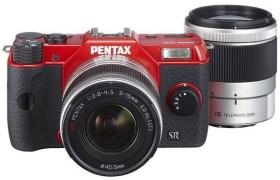 Pentax Q10 rot mit Objektiv 5-15mm 2.8-4.5 und 15-45mm 2.8 (12205)