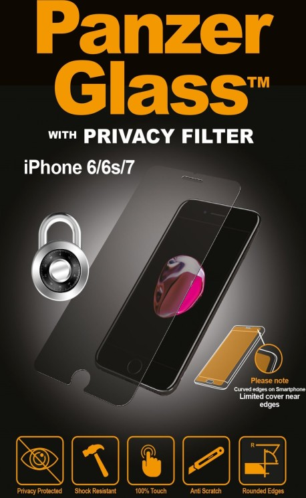 PanzerGlass Displayschutz Privacy für Apple iPhone 7 (P2003) -- via Amazon Partnerprogramm