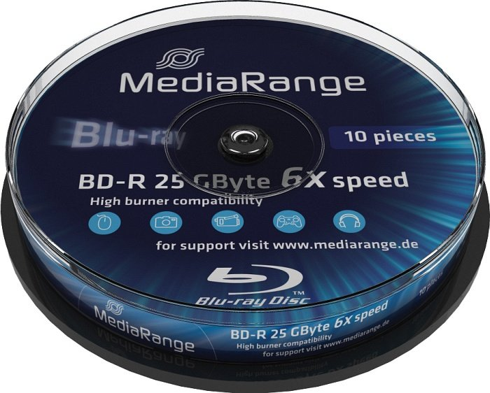 MediaRange BD-R 25GB 6x, 10er Spindel (MR499)