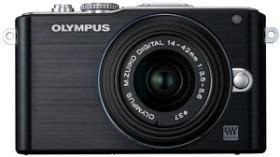 Olympus PEN E-PL3 schwarz mit Objektiv M.Zuiko digital 14-42mm II (V205031BE000)