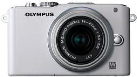 Olympus PEN E-PL3 weiß mit Objektiv M.Zuiko digital 14-42mm II (V205031WE000)