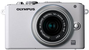 Olympus PEN E-PL3 white with lens M.Zuiko digital 14-42mm II (V205031WE000)