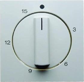 Berker centre plate for mechanical clock timer, polar white shiny (16328989)