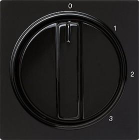 Gira Abdeckung mit Knebel für 3-Stufenschalter, schwarz (0669 47)