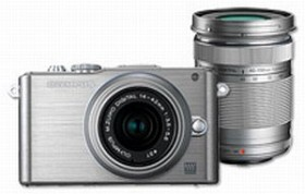 Olympus PEN E-PL3 silber mit Objektiv M.Zuiko digital 14-42mm II und M.Zuiko digital ED 40-150mm (V205032SE000)