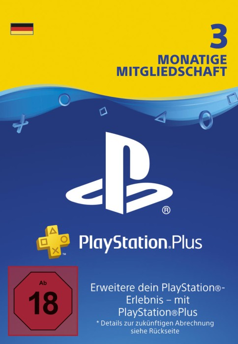 Sony PlayStation Plus Subscription Card - 90 Tage Abo für deutsche Accounts (PS3/PS4/PSVita)