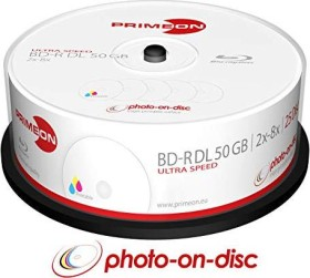 Primeon photo-on-disc BD-R DL 50GB 8x, 25-pack Spindle printable (2761319)