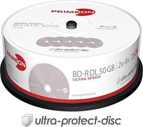 Primeon ultra-protect-disc BD-R DL 50GB 8x, 25-pack Spindle (2761318)