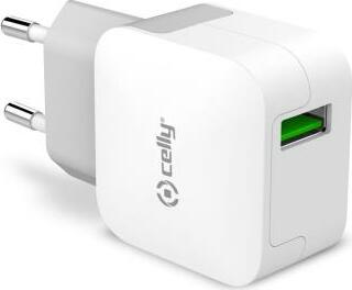 Celly Turbo Wall Charger 2.4A weiß (TCUSBTURBO)