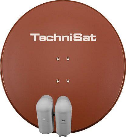 TechniSat EUTELASTRASAT 850 rot inkl. 2x Single-LNB + DiSEqC-Schalter 2/1 (9708/8804)