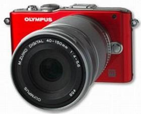 Olympus PEN E-PL3 rot mit Objektiv M.Zuiko digital ED 14-150mm (V205034RE000)