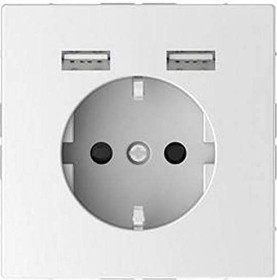 Merten System Design SCHUKO-Steckdose, lotosweiß (MEG2366-6035)