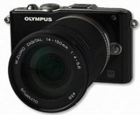 Olympus PEN E-PL3 schwarz mit Objektiv M.Zuiko digital ED 14-150mm (V205034BE000)