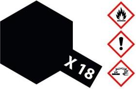 Tamiya Acrylic Paint X-18 satin black 23ml (81018)