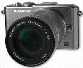 Olympus PEN E-PL3 silber mit Objektiv M.Zuiko digital ED 14-150mm (V205034SE000)