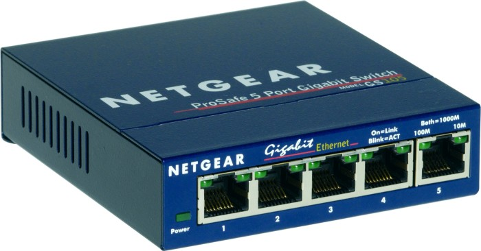 Netgear ProSAFE GS105, 5-port