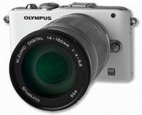 Olympus PEN E-PL3 weiß mit Objektiv M.Zuiko digital ED 14-150mm (V205034WE000)
