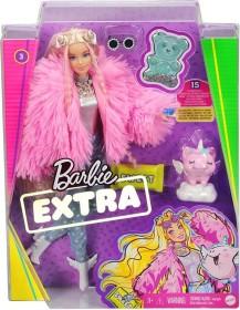 Mattel Barbie Extra mit flauschiger rosa Jacke (GVR04)