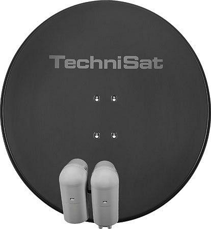 TechniSat EUTELASTRASAT 850 schiefergrau inkl. 2x Single-LNB + DiSEqC-Schalter 2/1 (9708/8803)