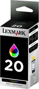 Lexmark 20 Druckkopf mit Tinte farbig hohe Kapazität (15MX120E)