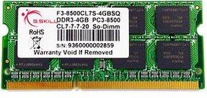 G.Skill for MAC SO-DIMM Kit 4GB, DDR3-1066, CL7-7-7-20 (FA-8500CL7D-4GBSQ)