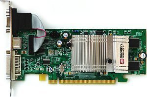 Sapphire Radeon X300, 128MB DDR, DVI, TV-out, PCIe, bulk/lite retail (11035-00-10/20)