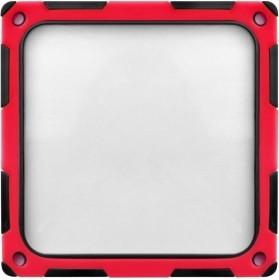 SilverStone FF124BR-E schwarz/rot, Staubfilter 120x120mm quadratisch (SST-FF124BR-E/40143)