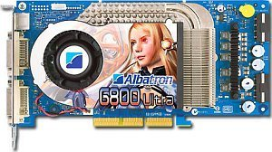 Albatron 6800U, GeForce 6800 Ultra, 256MB GDDR3, 2x DVI, TV-out, AGP