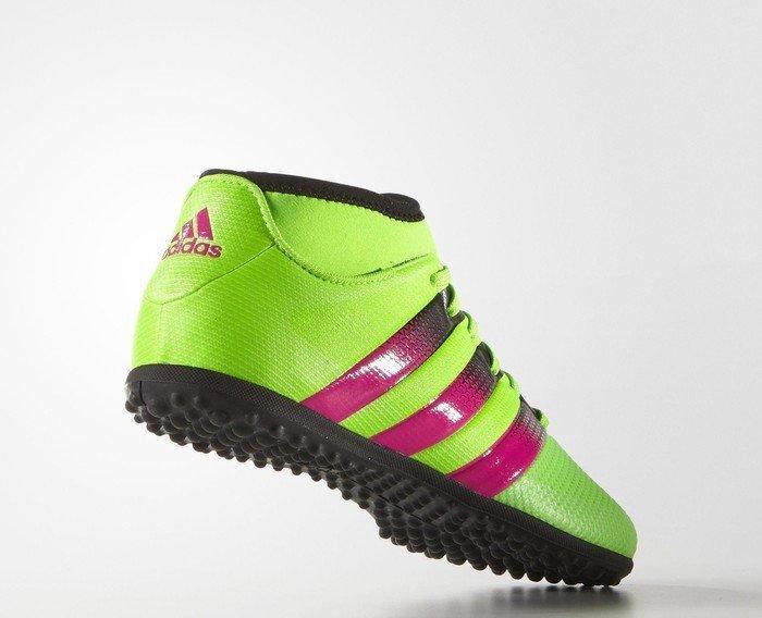buy popular 1141c 2b8ef adidas Ace 16.3 Primemesh TF solar green shock pink core black (Junior) ( AQ2559) starting from £ 0.00 (2019)   Skinflint Price Comparison UK