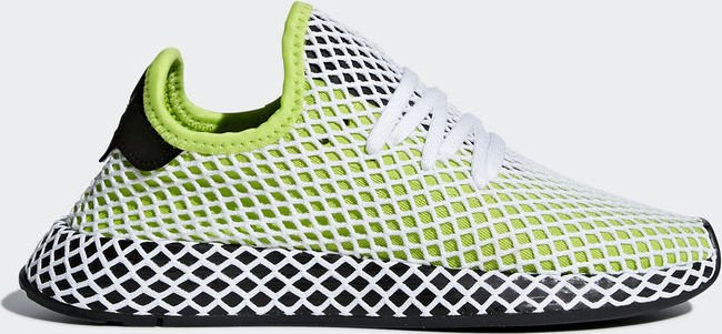new product 1de4d c0695 adidas Deerupt Runner semi solar slimecore blackftwr white (Junior) (