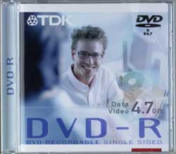 TDK DVD-R 4.7GB for Authoring