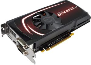 EVGA GeForce GTX 570 HD Superclocked, 1.25GB GDDR5, 2x DVI, HDMI, DisplayPort (012-P3-1573)