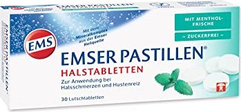 Emser pastilles sugar free with Mentholfrische, 30 pieces