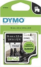 Dymo D1 nylon labelling tape 19mm, black/white (16958 / S0718050)