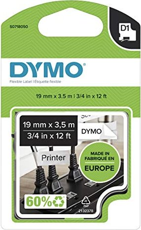 Dymo D1 Nylon 19mm schwarz/weiß (16958/S0718050) -- via Amazon Partnerprogramm
