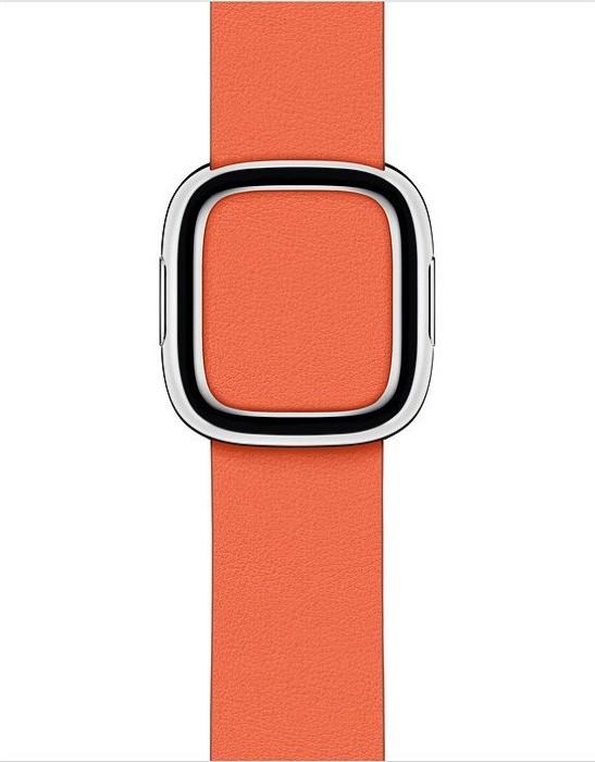 Apple modernes Lederarmband Small für Apple Watch 40mm Abendsonne (MV6Q2ZM/A)