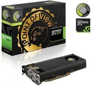 Point of View GeForce GTX 670 Single Fan, 2GB GDDR5, 2x DVI, HDMI, DisplayPort (VGA-670-A1)