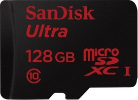 SanDisk Ultra R48 microSDXC Android 128GB Kit, UHS-I, Class 10 (SDSDQUAN-128G-G4A)
